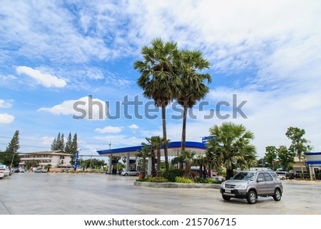 PETCHBURI, THAILAND - AUG 31:PTT Gas Station on Aug 31,14 in Thailand. PTT is a Thai state-owned SET-listed oil and gas company which owns extensive submarine gas pipelines in the Gulf of Thailand.