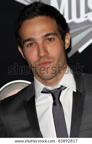 Pete Wentz at the 2011 MTV Video Music Awards Arrivals, Nokia Theatre LA Live, Los Angeles, CA 08-28-11