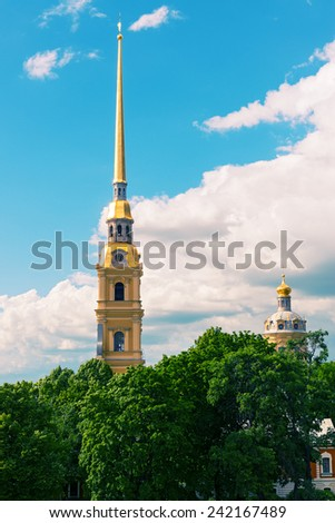 Peter and Paul Cathedral in St. Petersburg, Russia - stock photo