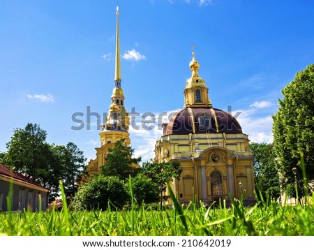 Peter and Paul Fortress in St. Petersburg - stock photo
