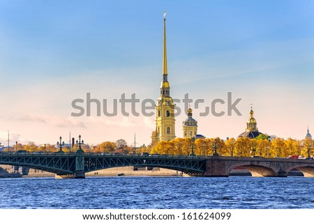 Peter and Paul Fortress, St Petersburg, Russia - stock photo