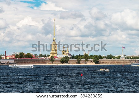 Peter and Paul Fortress, St. Petersburg, Russia - stock photo
