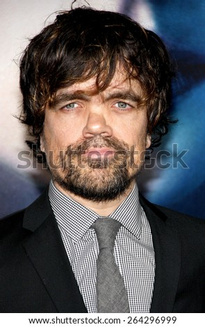 "Peter Dinklage at the HBO's third season premiere of ""Game of Thrones"" held at the TCL Chinese Theater in in Los Angeles, United States, March 18, 2013.  - stock photo"