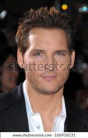 Peter Facinelli  at the Los Angeles Premiere of 'Twilight'. Mann Village, Westwood, CA. 11-17-08 - stock photo