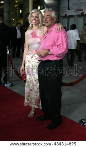 Peter Falk and Shera Danese at the Los Angeles premiere of 'The Thing About My Folks' held at the Arclight, Hollywood, USA on September 7, 2005.