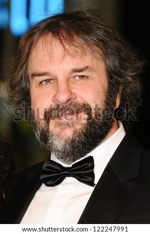 "Peter Jackson arriving for the premiere of ""The Hobbit: An Unexpected Journey"" at the Odeon Leicester Square, London. 12/12/2012 Picture by: Steve Vas - stock photo"