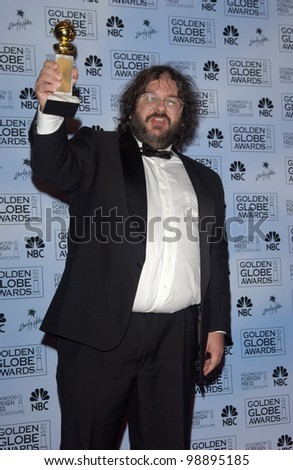 PETER JACKSON at the 61st Annual Golden Globe Awards at the Beverly Hilton Hotel, Beverly Hills, CA. January 25, 2004 - stock photo
