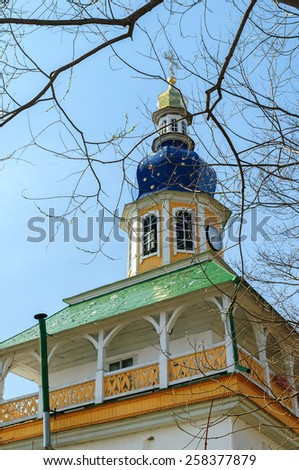 Peter's gate tower, Holy Dormition Pskov-Caves Monastery, Russia