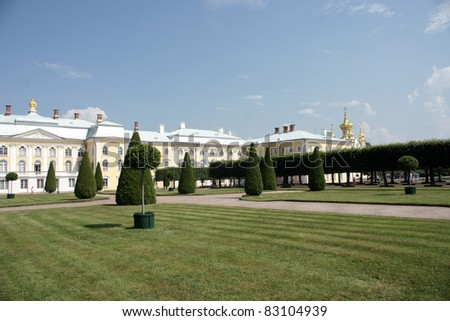 Peterhof palace in Saint Petersburg, Russia - stock photo
