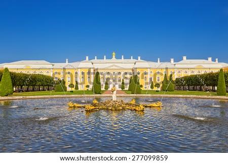 Peterhof Palace, St. Petersburg, Russia - stock photo