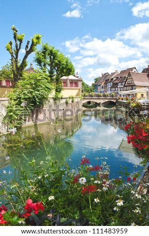 Petite Venice in Colmar, France - stock photo