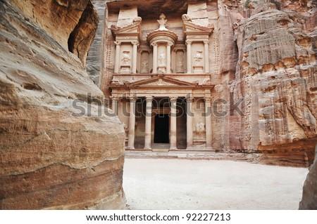 Petra, ancient city, Jordan - stock photo