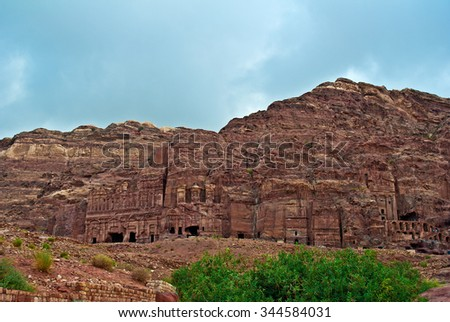 Petra catacombs  - stock photo