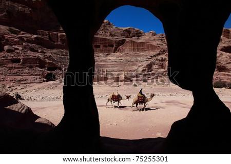 Petra Landscape - stock photo