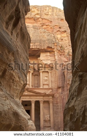 Petra - the Treasury viewed from the siq