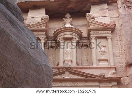 Petra -  treasury - stock photo