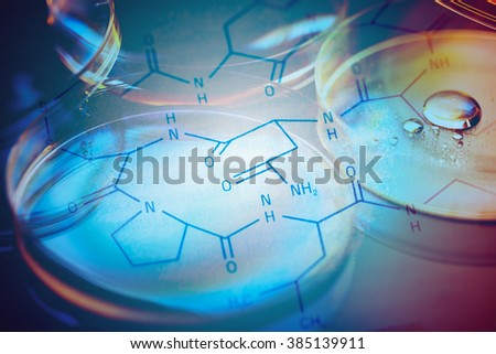 Petri dishes. Laboratory concept. - stock photo