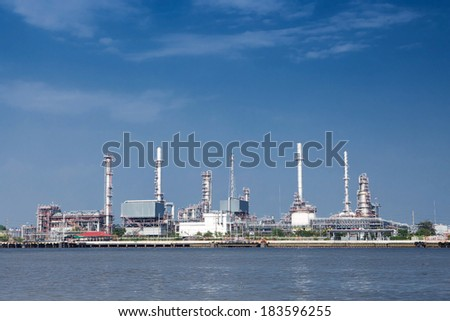 Petrochemical high technology oil industry. - stock photo