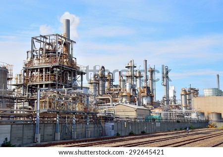 petrochemical industrial plant, Keihin Industrial Area, Kawasaki, Japan - stock photo