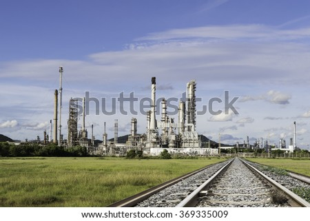 Petrochemical industry power station in afternoon of Thailand - stock photo