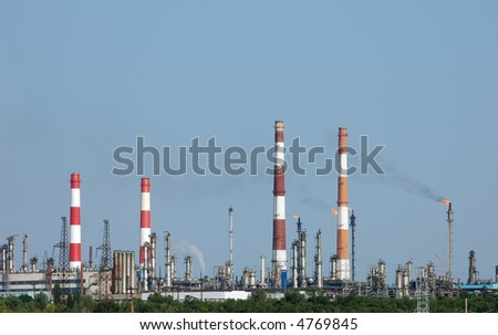 petrochemical industry view - stock photo