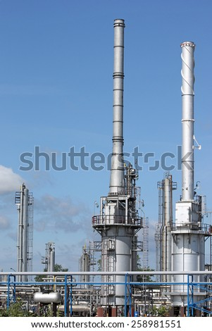 petrochemical plant and pipelines industry zone - stock photo