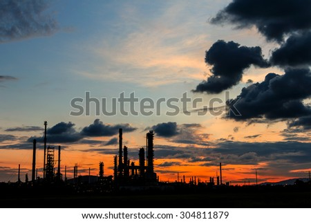 Petrochemical plant in Silhouette