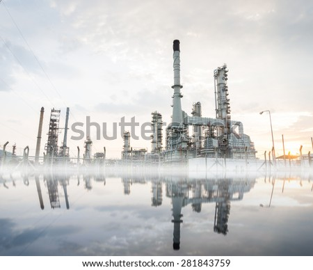 Petrochemical plant In the morning - stock photo