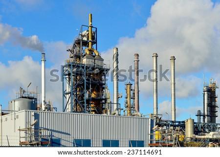 petrochemical plant near Rotterdam Netherlands - stock photo