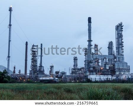 Petrochemical plant, Refinery - stock photo
