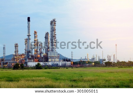 Petrochemical plant with blue sky in Thailand