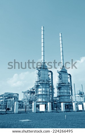 Petrochemical processing equipment  - stock photo