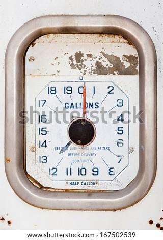 petrol bowser gauge - stock photo