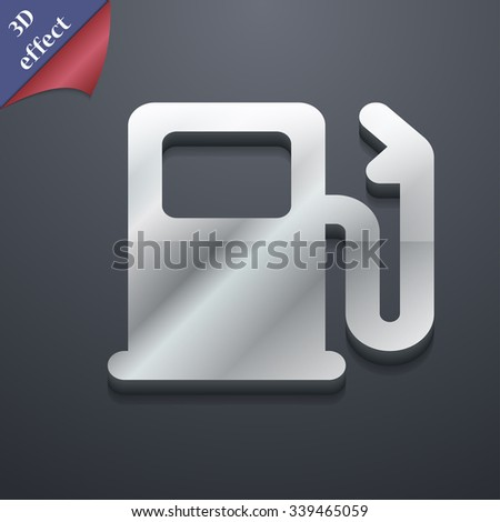 Petrol or Gas station, Car fuel icon symbol. 3D style. Trendy, modern design with space for your text illustration. Rastrized copy - stock photo