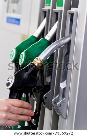 petrol pump - stock photo