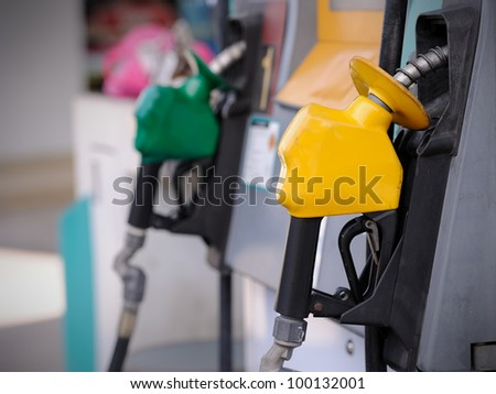 Petrol pump station - stock photo