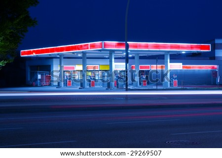 Petrol station - stock photo