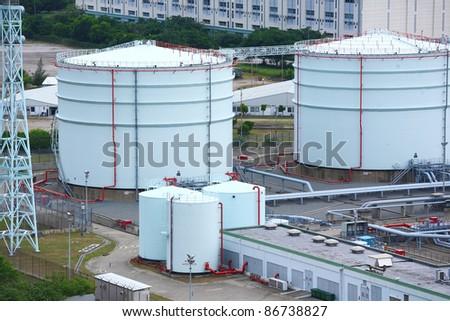 petrol tanks - stock photo