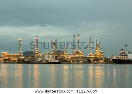 Petroleum oil refinery