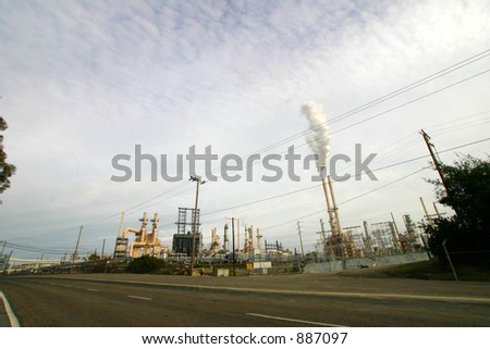 Petroleum Refinery - stock photo