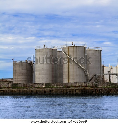 Petroleum Storage Tanks - stock photo
