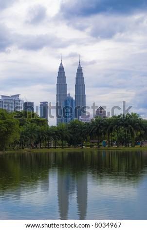 Petronas Twin Tower at Kuala Lumpur, Malaysia - stock photo
