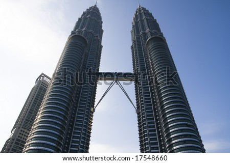 Petronas Twin Tower stand as one of top skyscraper in a world - stock photo