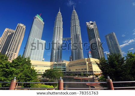 Petronas Twin Towers in Malaysia - stock photo