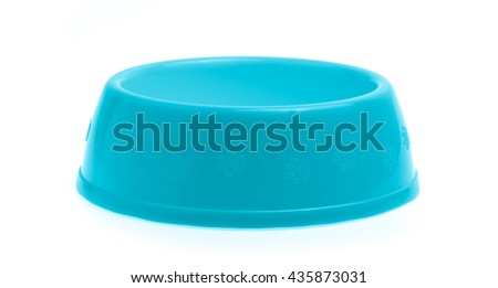 pets bowl isolated on white background
