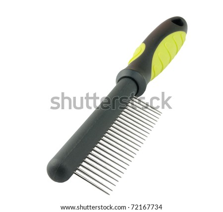 pets comb isolated on a white background - stock photo