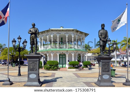 PEURTO PLATA, DOMINICAN REPUBLIC � JAN 22:  The Central Park in Puerto Plata is an important attraction in a country that relies heavily on tourism Jan 22, 2014 in Puerto Plata. - stock photo