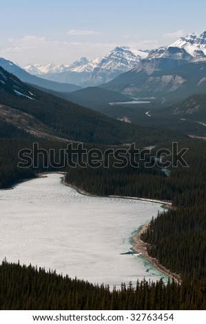 peyto lake - stock photo