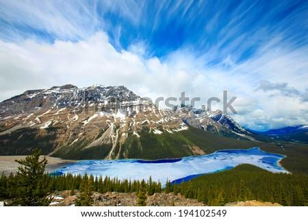 Peyto Lake, Banff National Park, Alberta, Canada - stock photo