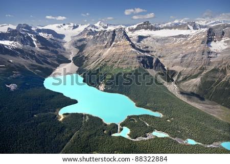 Peyto Lake, Banff National Park, Alberta, Canada. - stock photo
